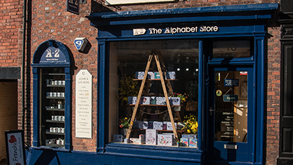 The Alphabet Store shop in Leek