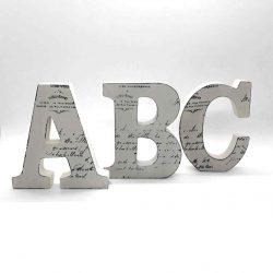 12cm Script Wooden Letters