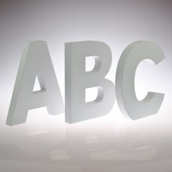 18cm - White Wooden Letters by Splosh / Peace & Thyme-0