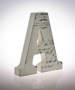 12cm Script Wooden Letters-1096