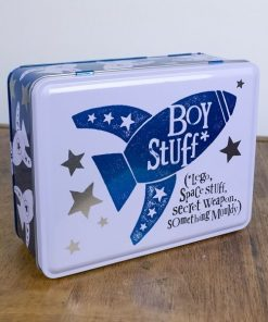 Bright Side Boy Stuff Storage Tin