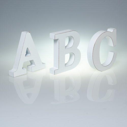12cm Plain White Wooden Letters -0