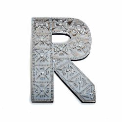 20cm Wooden & Aluminium Letter A
