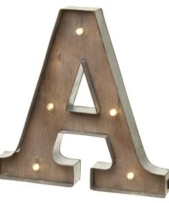 Alphabet Metal and Wooden Light Up Letters