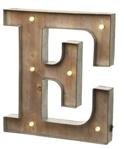 Light Up - Alphabet Metal and Wooden Light up Letter (Upper Case)-1268