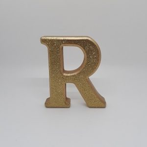 Gold Glitter Letters-0