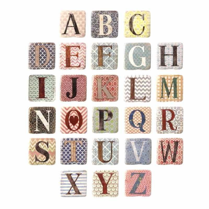 A-Z Alphabet Resin Coaster