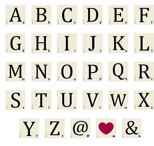 Scrabble Style Alphabet Coaster