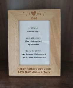 I love my dad personalised frame