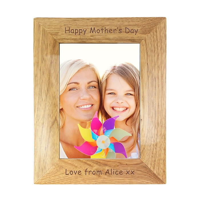 Personalised 5×7 Wooden Photo Frame for any ocassion -0