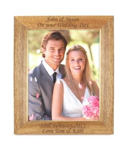Personalised Wooden Photo Frame 8x10