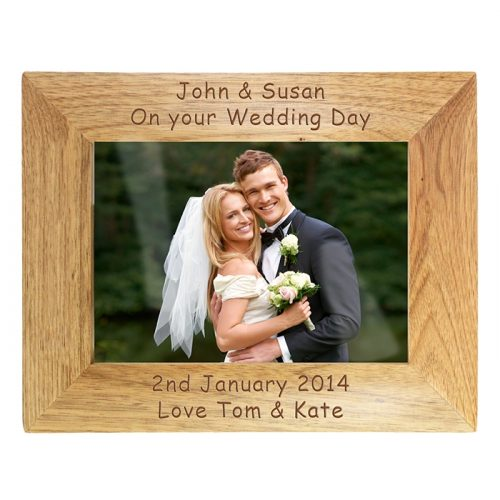 Personalised Wooden Photo Frame 7x5
