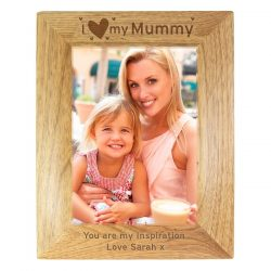 Personalised I Heart My... Wooden Photo Frame 5x7
