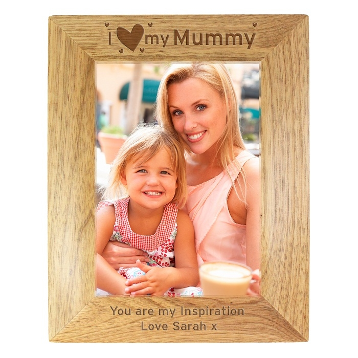 Personalised I Heart My… Wooden Photo Frame 5×7