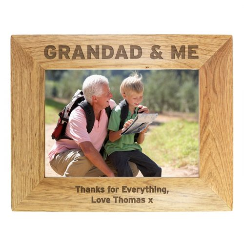 Personalised Grandad & Me Photo Frame 7x5