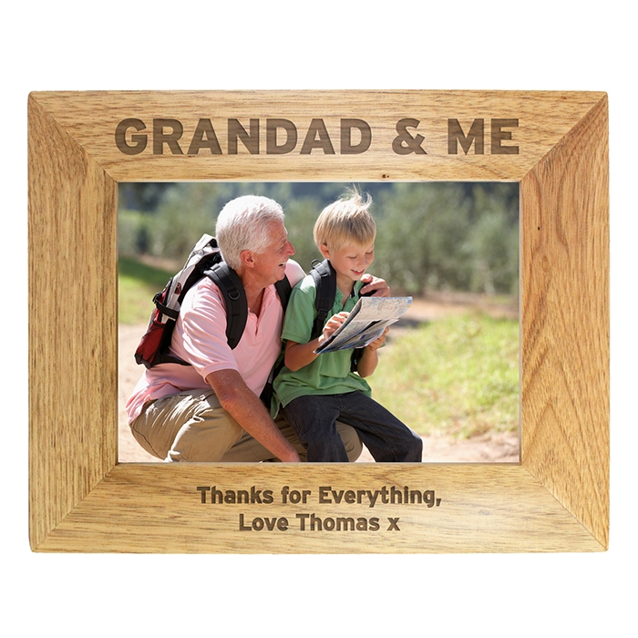 Personalised Grandad & Me Photo Frame 7×5