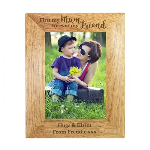 Personalised First My Mum... Wooden Photo Frame 5x7