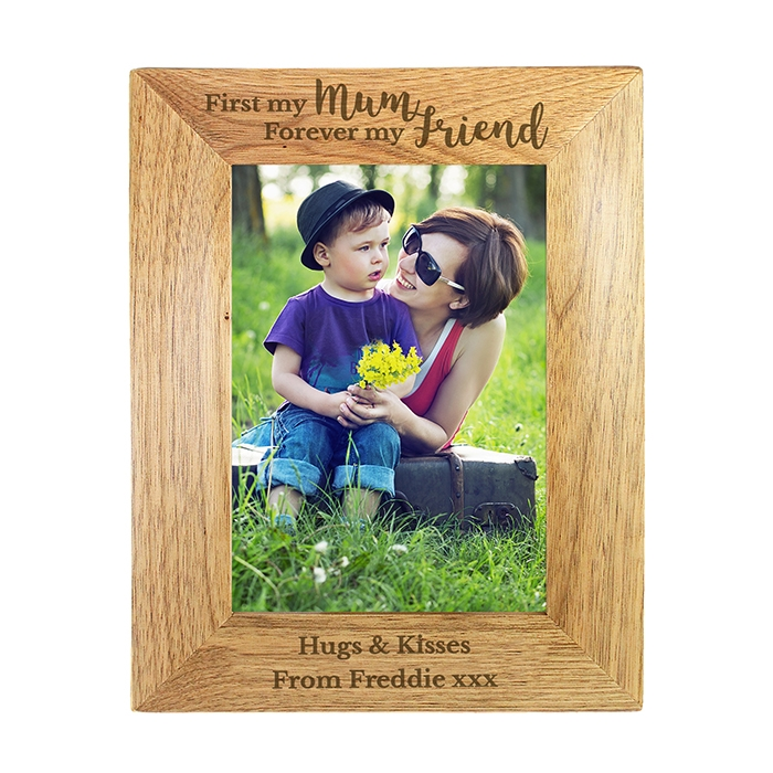Personalised First My Mum… Wooden Photo Frame 5×7