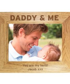 Personalised Daddy & Me Wooden Photo Frame 7x5