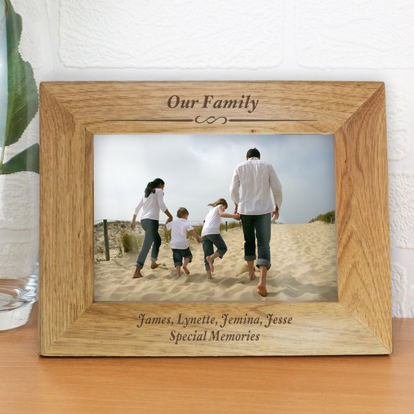 Personalised Formal Wooden Photo Frame Any Message 7×5