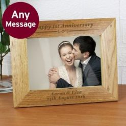 Personalised 7x5 Formal Wooden Photo Frame - any message-0
