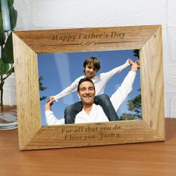 Personalised 7x5 Formal Wooden Photo Frame - any message-1553