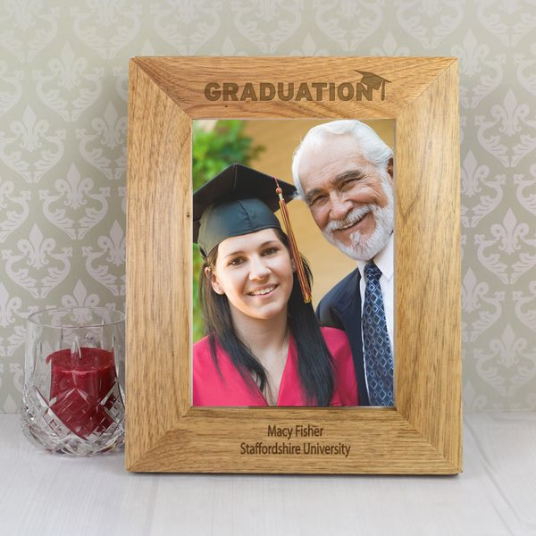 Personalised Graduation Wooden Photo Frame 5×7