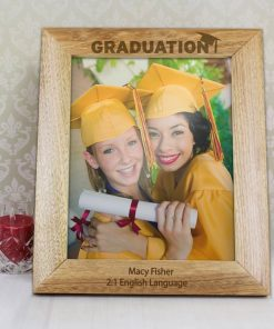 Personalised Graduation Wooden Photo Frame 8x10