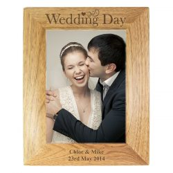 Personalised Wedding Day Wooden Photo Frame 5x7