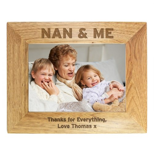 Personalised Nan & Me Wooden Photo Frame 7x5