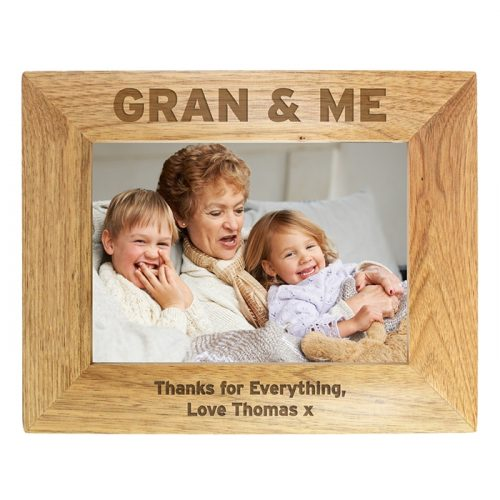 Personalised Gran & Me Wooden Photo Frame 7x5