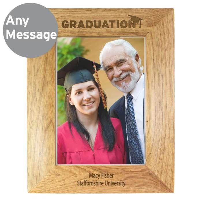 Personalised 5×7 Graduation Wooden Photo Frame-0