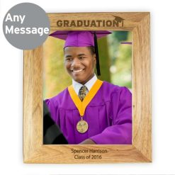 Personalised 8x10 Graduation Wooden Photo Frame-0