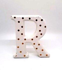 Gold Spot Glitter Letters