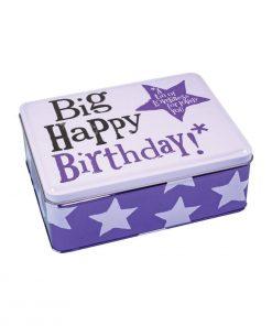 Bright Side Big Happy Birthday Storage Tin