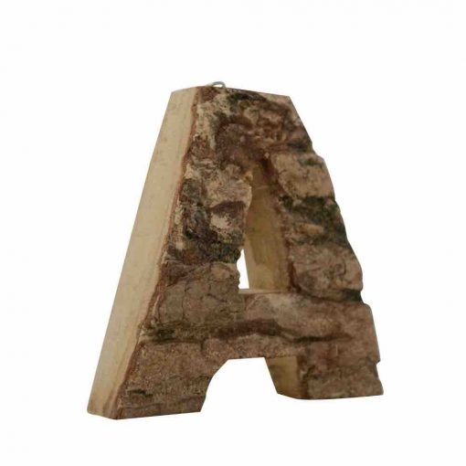 Wall Hanging Bark Letter A