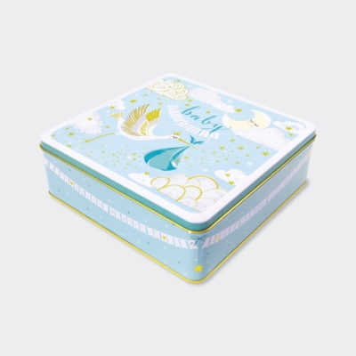 Baby Boy Keepsake Storage Tin