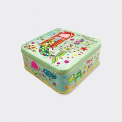 Mermaid Treasure Kids Square Storage Tin