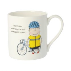 Rosie Made a Thing Throw on Some Lycra Mug