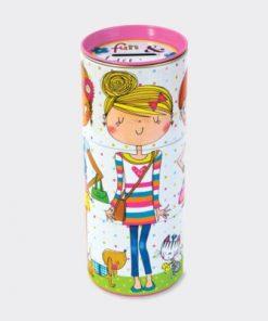 Fun & Fashion Three Tiered Swivel Money Box Tin