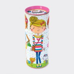 Fun & Fashion Three Tiered Swivel Money Box Tin