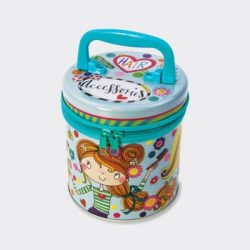 Hair Accessories Zipped Storage Tin