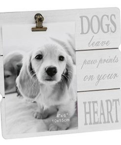 White Message Clip Photo Frame Dogs