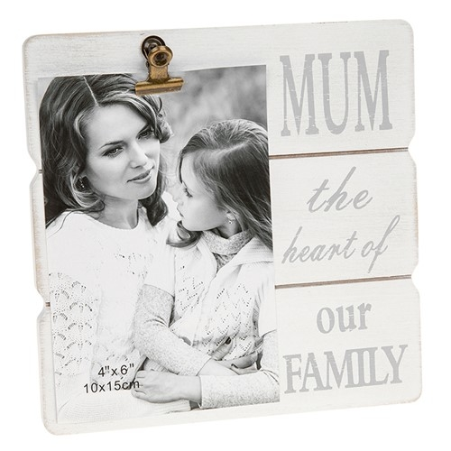 White Message Clip Frame Mum