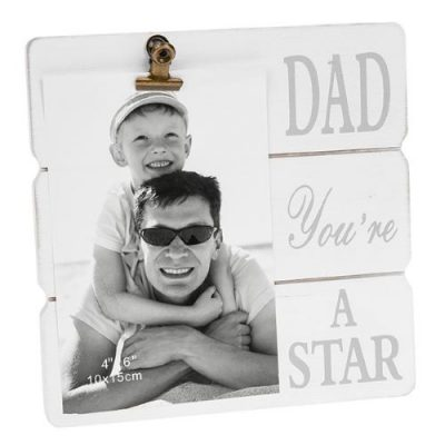 White Message Clip Photo Frame Dad