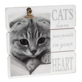 White Message Clip Frame Cats