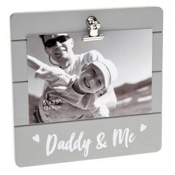 Daddy & Me Grey Cutie Clip Photo Frame