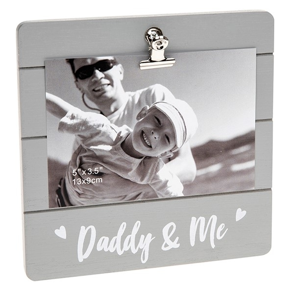 Daddy & Me Grey Cutie Clip Photo Frame
