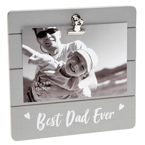 Best Dad Ever Grey Cutie Clip Photo Frame