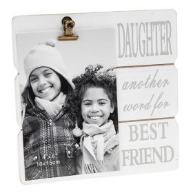 White Message Clip Photo Frame Daughter